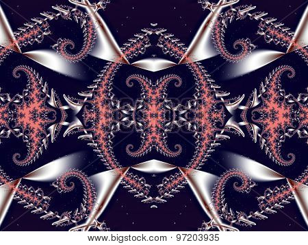 Fabulous Background. Satin Pattern With Spirals. Artwork For Creative Design,