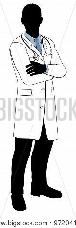 Male Doctor Silhouette