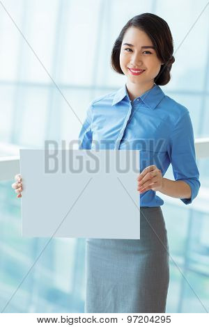 Manager With Blank Board