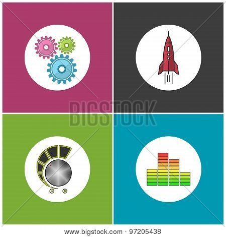 Set Of Business Icons, Teamwork