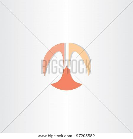 Lungs Circle Icon Vector Symbol
