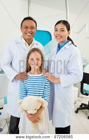 Dental Team And Patient