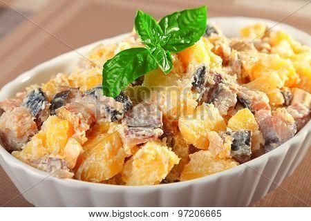 Potato Salad With Marinated Fish