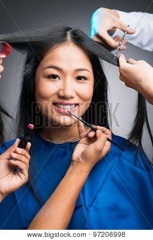 Vietnamese Woman In Beauty Salon