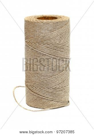 Bobbin harsh thread on a white background