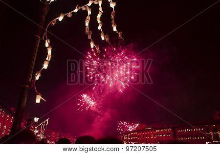 Fireworks For Celebration Of Luminara In Pisa
