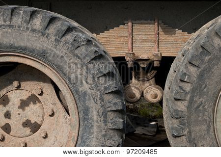 Wheels Of Old Truck