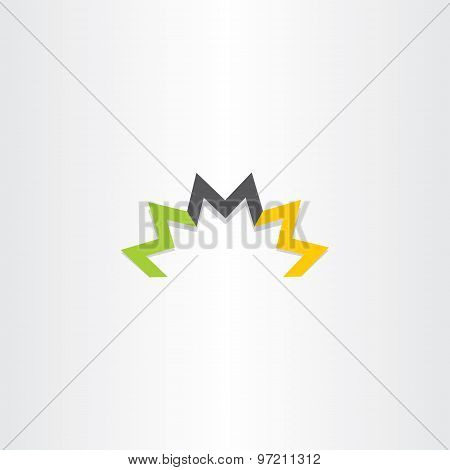 Triple Letter M Logo Symbol Vector Element