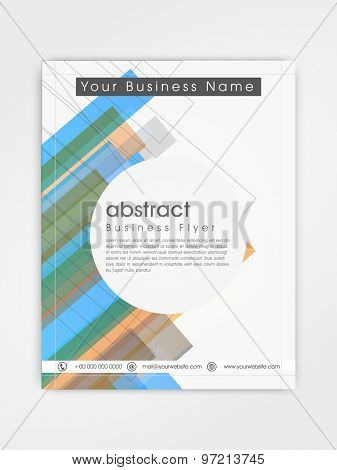 Abstract professional flyer, template or brochure design for corporate sector.