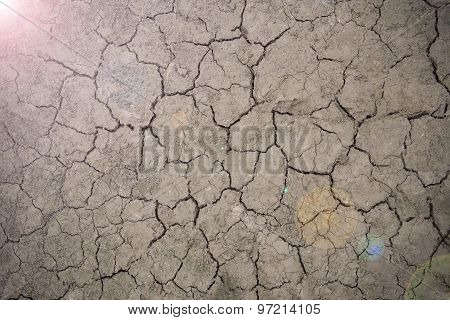 Drought Floor With Light Of Hope