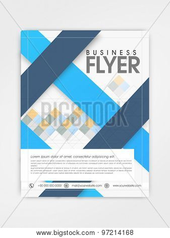 Stylish business flyer, template or brochure design for corporate sector.