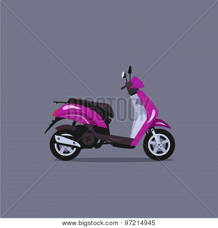 Scooter motorbike vector illustration