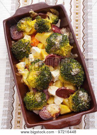 Brocolli And Potato Casserole