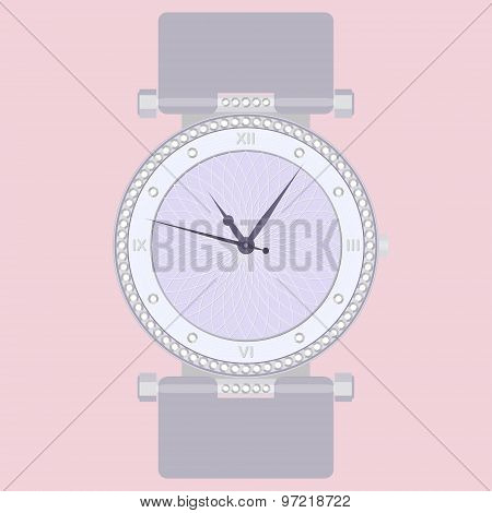 Elegant Fashion Women's Wrist Watch With Gems