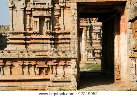 Details of ruin temple in hampi