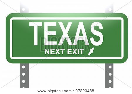 Texas Green Sign Board Isolated