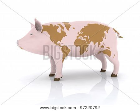Pork With World Map