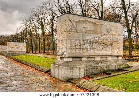 Soviet War Memorial In Treptower Park, Berlin, Germany Panorama