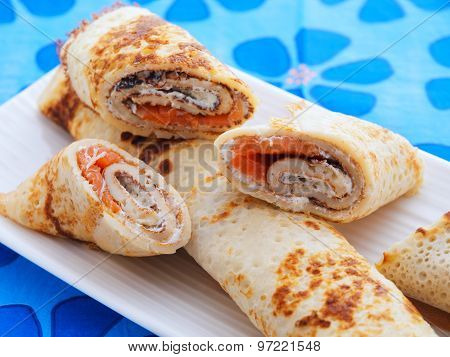 Salmon Wraps With Cheese
