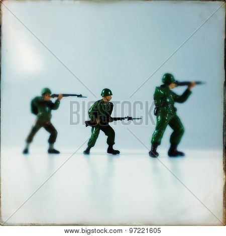 Vintage style Toy Soldiers with an Instagram style filter