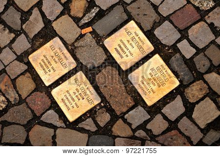 Stolperstein (stumbling Block) In Berlin