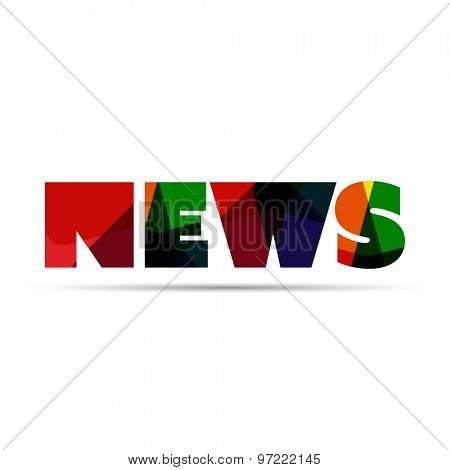 News word icon or logo design. Web icon, button or message for web site design, presentation and/or application.