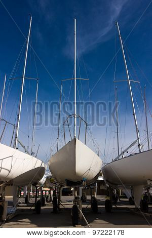 Yachts In Dry-dock