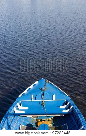 Small Blue Wooden Boat