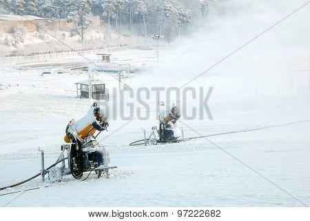 Mountain snow blowers