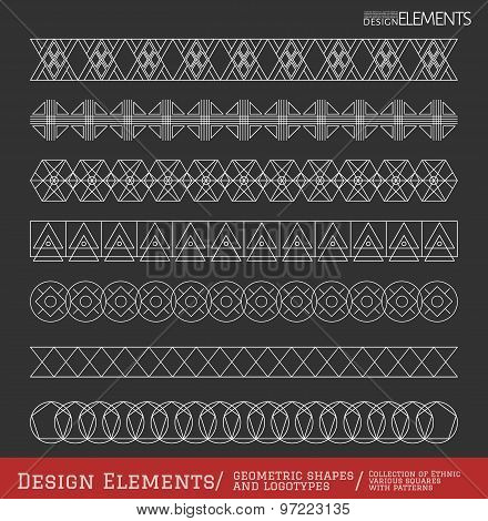 Set Of Geometric Hipster Shapes And Logotypes6548885111Black