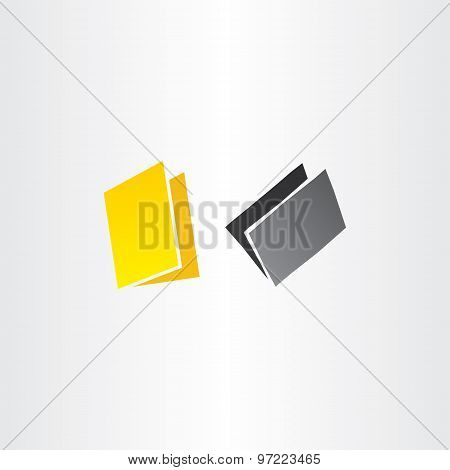 Yellow And Black Folders Vector Icons Design