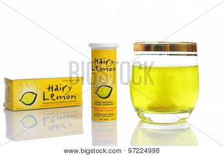 Hairy Lemon Effervescent Energy Vitamin Suplement Drink