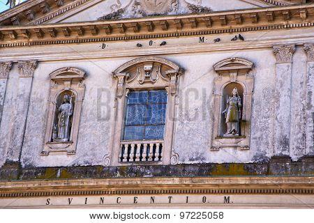 Caronno Varesino Cross Church Varese Italy The     And Mosaic Wall In The Sky