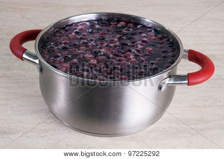 Pot Of Blueberries Compote