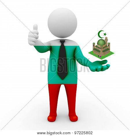 3d businessman people Bulgaria - Muslim mosque and Islam in Bulgaria
