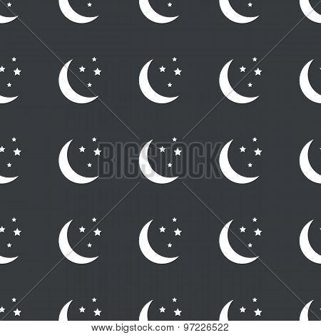 Straight black night pattern