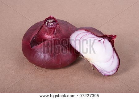 Red Onion On A Parchment