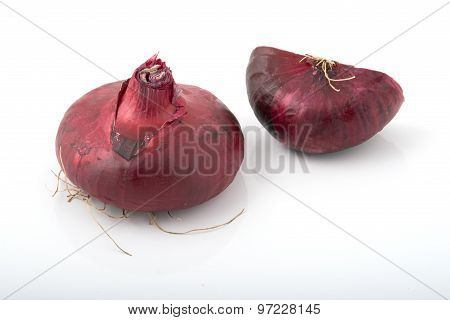 Whole Red Onion And A Half
