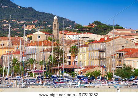 Cityscape Of Propriano, Corsica Island, France