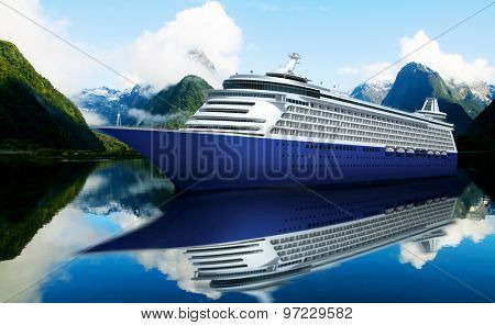 Yacht Cruise Ship Sea Ocean Tropical Scenic Concept
