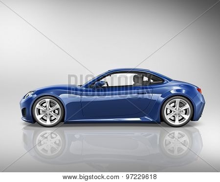 3D Sport Car Vehicle Transportation Illustration Concept