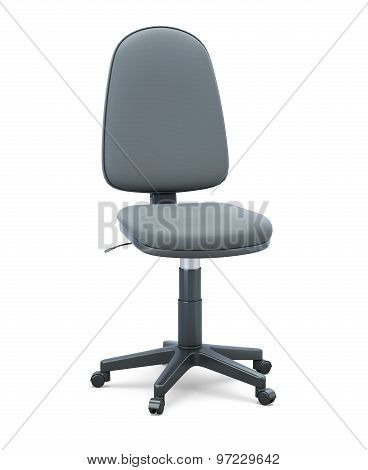 Office Chair Without Armrests On A White Background