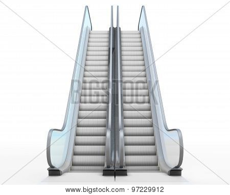 Escalator Isolated On White