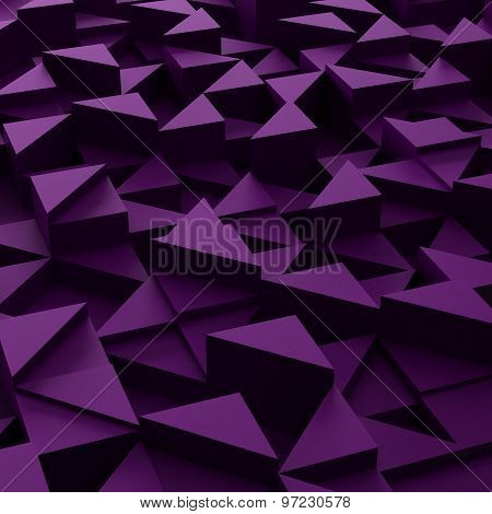 background of 3d violet triangle blocks