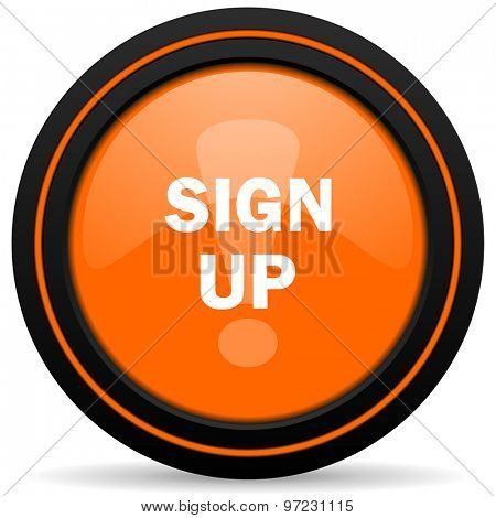 sign up orange icon