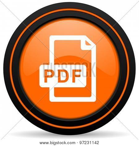 pdf file orange icon