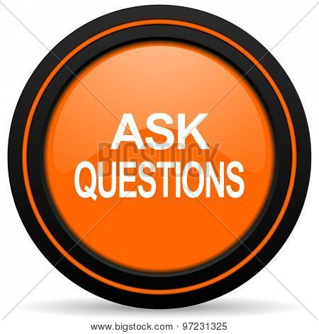 ask questions orange icon