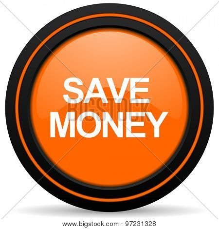 save money orange icon