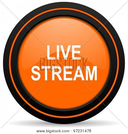 live stream orange icon