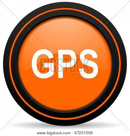 gps orange icon